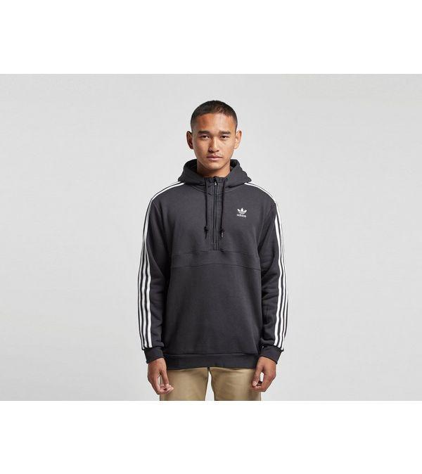 adidas Originals 3-Stripe Half Zip Hoodie