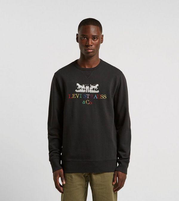 Levis 2 Horse Logo Crew Sweatshirt
