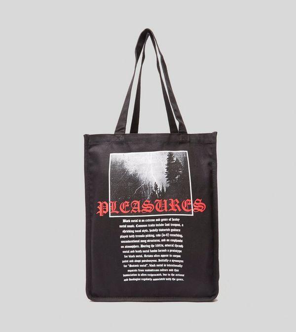 PLEASURES Black Metal Tote Bag