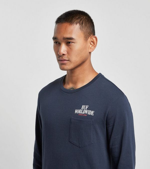 HUF Serif Stack Long Sleeve Pocket T-Shirt