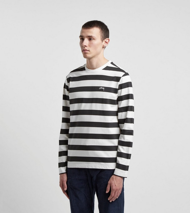 Stussy Long Sleeve Printed Stripe T-Shirt