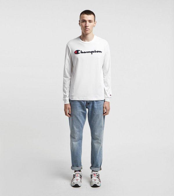 Champion Scipt Logo Long Sleeve T-Shirt