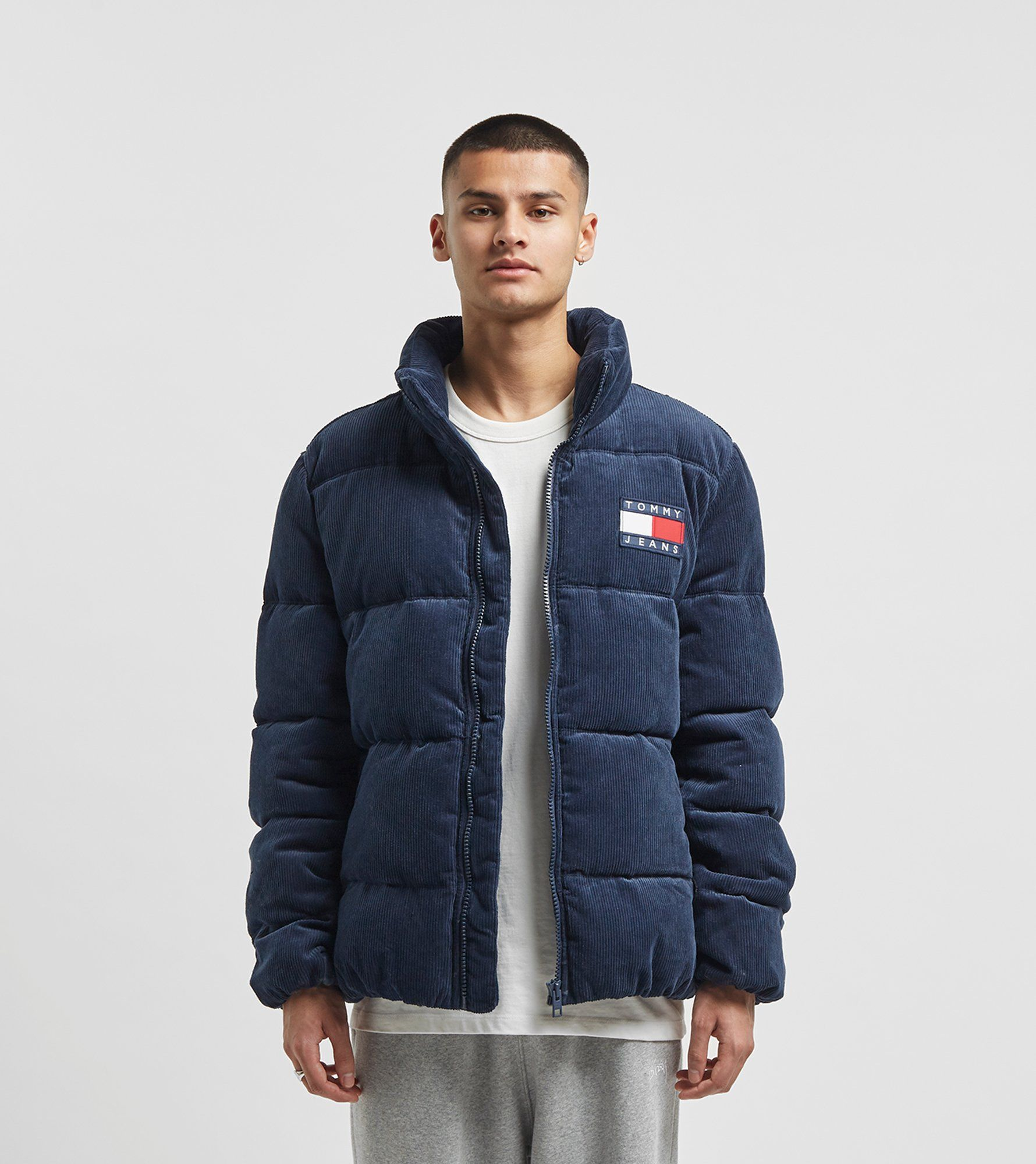 Tommy Jeans Corduroy Puffer Jacket by Tommy Jeans