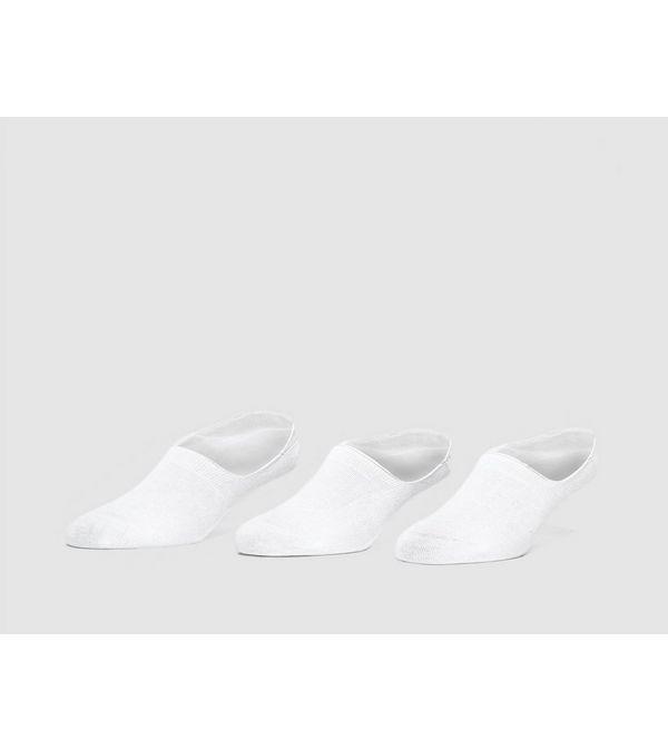 """size? 3 paia di calzini bianchi """"invisibili"""""""