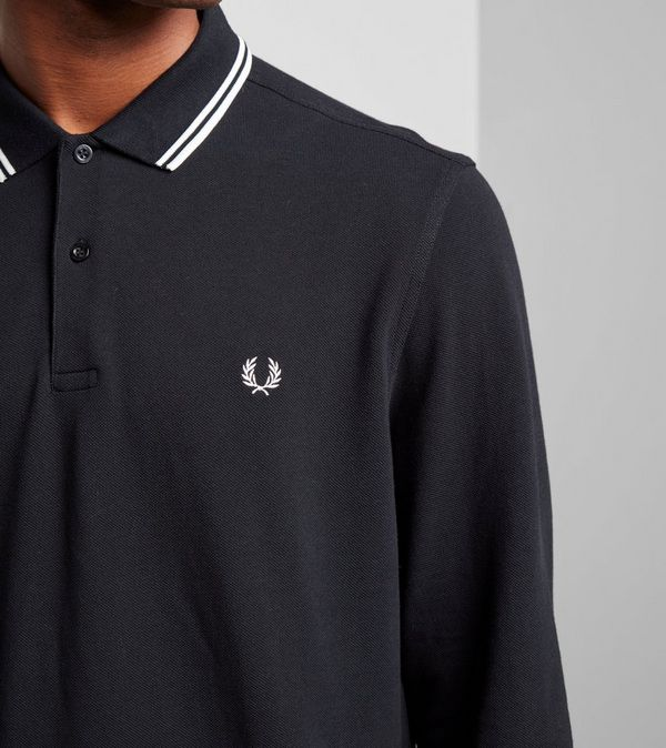 30c73d75 Fred Perry Twin Tip Long Sleeve Polo Shirt | Size?