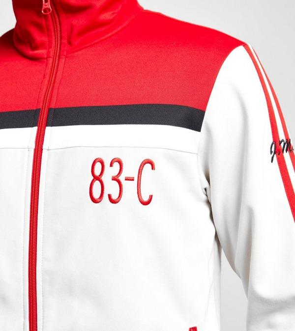 adidas Originals Apparel 83 C Track Top White Red