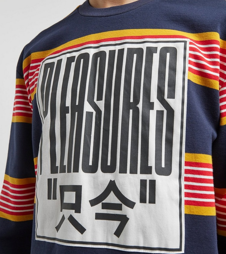 PLEASURES Electric Striped Long Sleeve T-Shirt