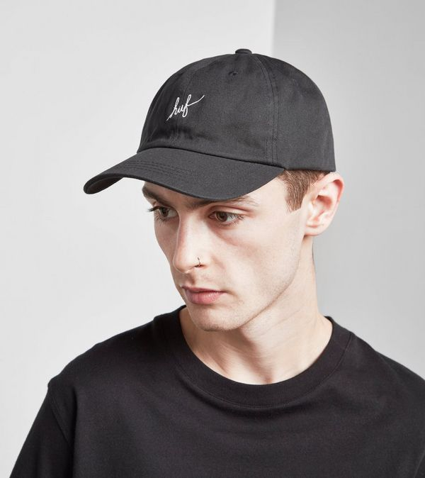 new products 720bf 556cf HUF Script Curved Logo Cap