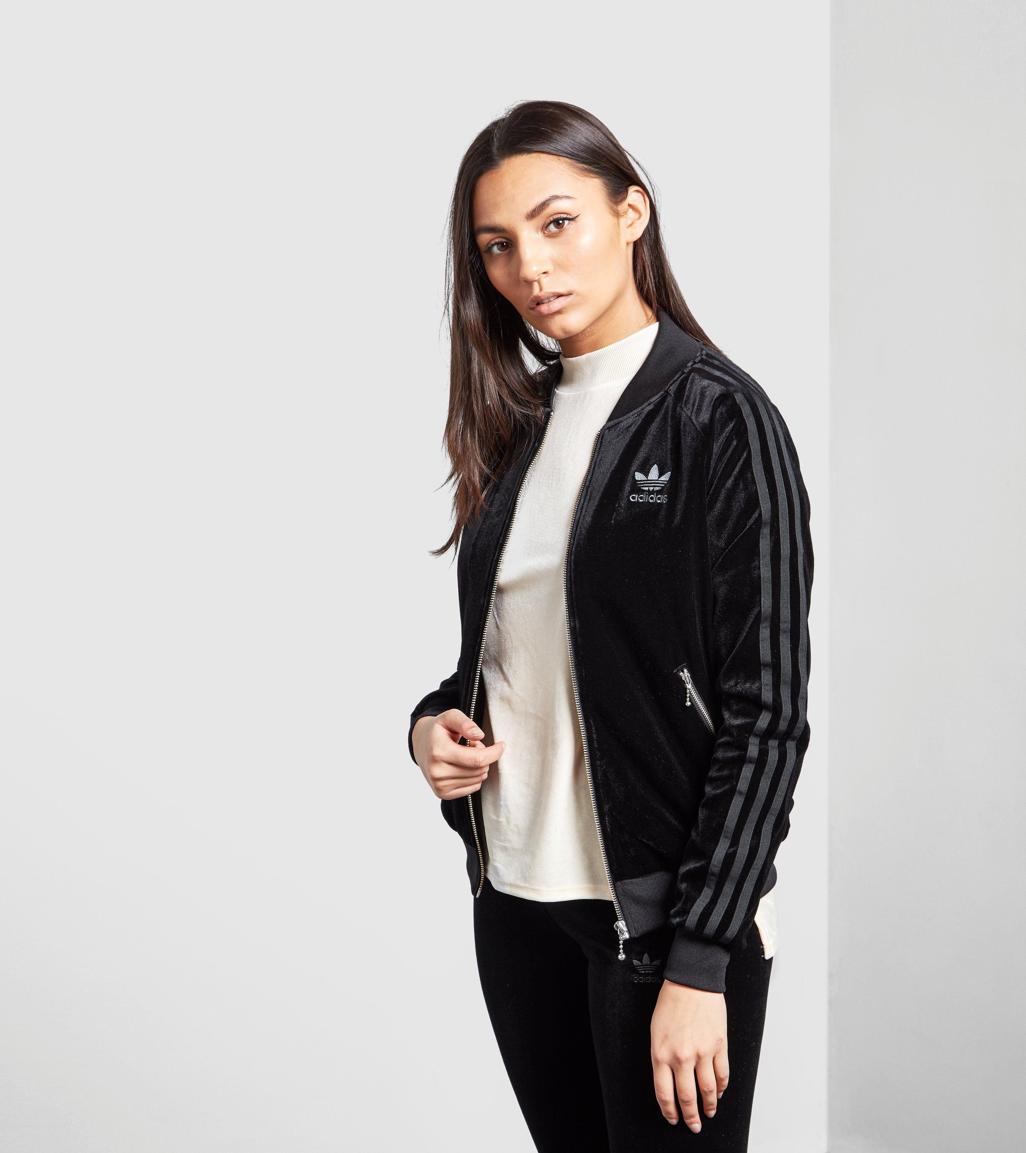 536b7d7ee adidas Originals 3 Stripe Velvet Bomber Jacket | Size?