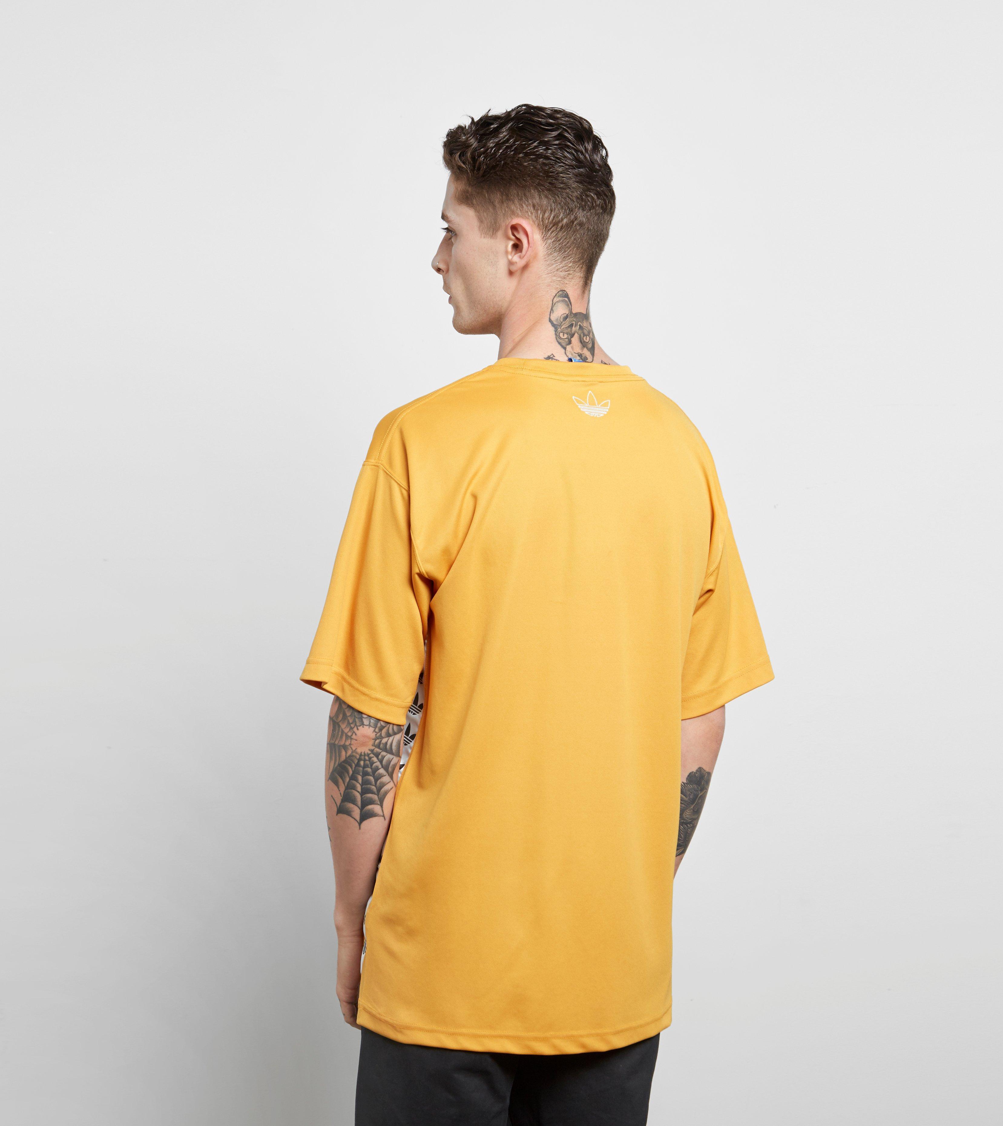 adidas originals tape t shirt yellow