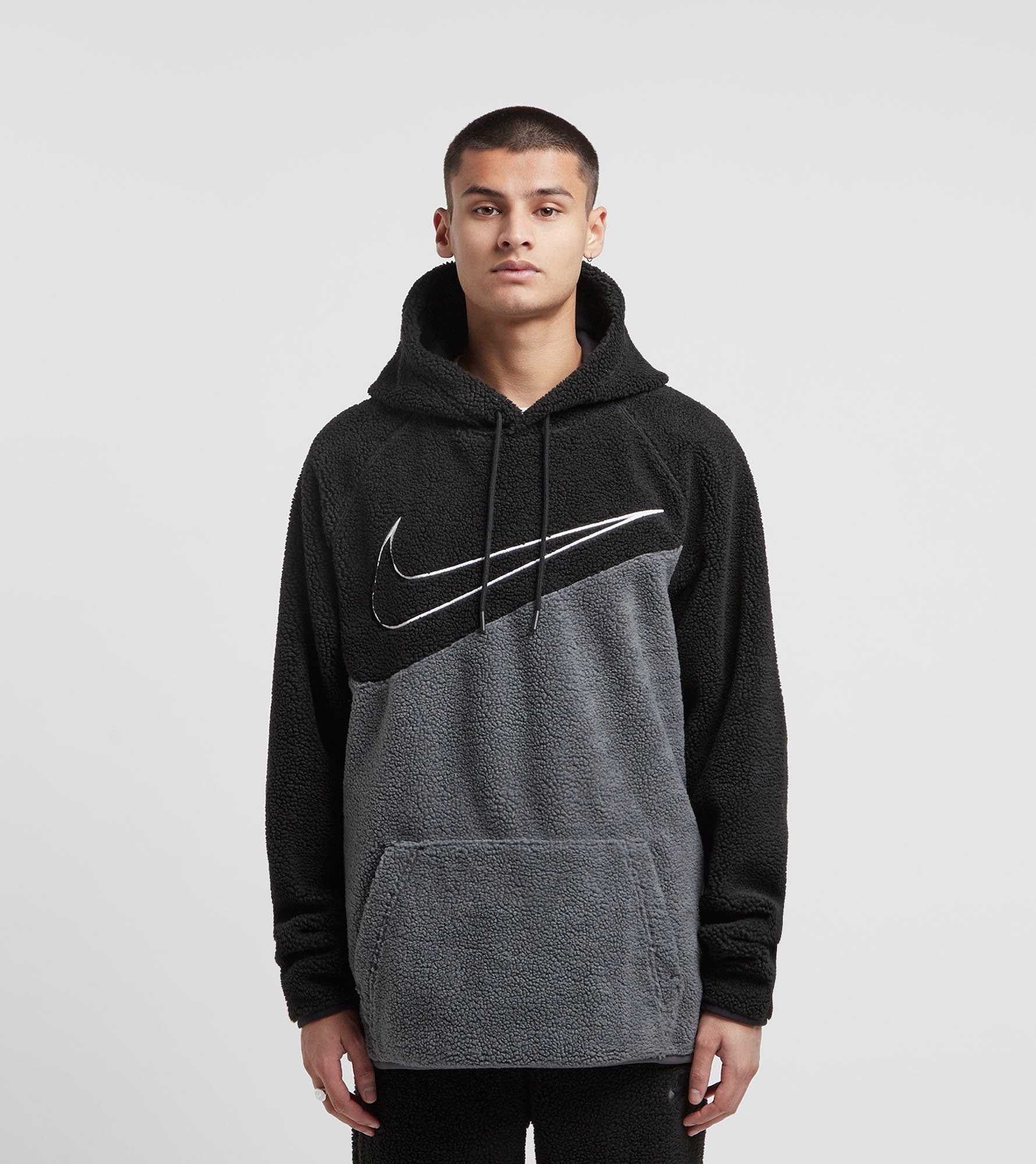 separation shoes new collection buy sale Nike Sherpa Swoosh Fleece Hoodie | Size?