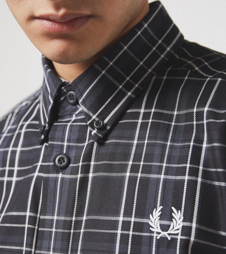 Fred Perry Tonal Check Long Sleeve Shirt