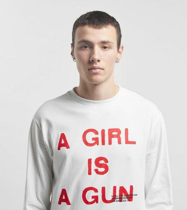 PLEASURES A Girl Is A Gun Long Sleeve T-Shirt