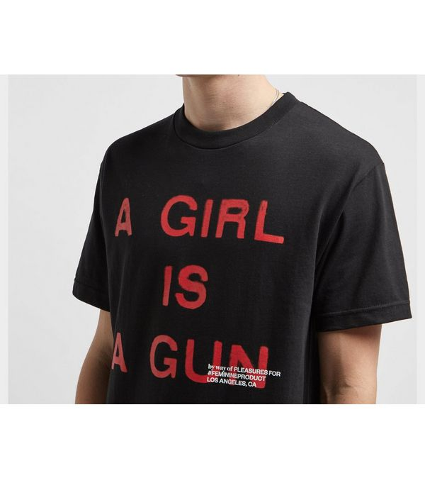PLEASURES A Girl Is A Gun T-Shirt