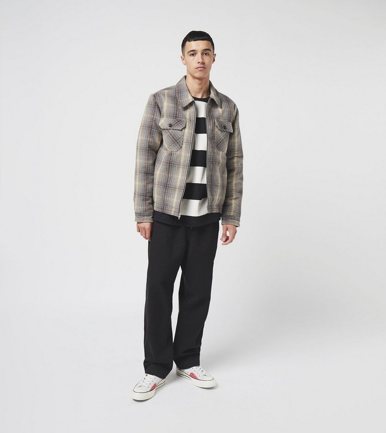 Stussy Heavy Brush Plaid Zip Shirt
