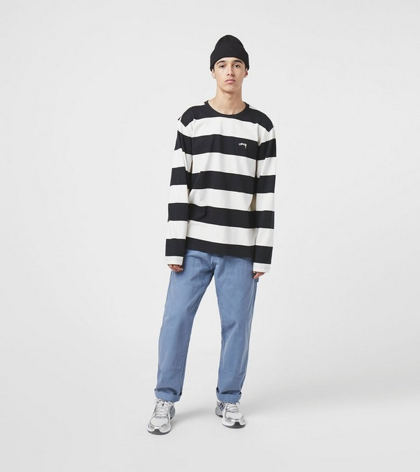 Stussy Long Sleeve Bold Stripe Crew Sweat