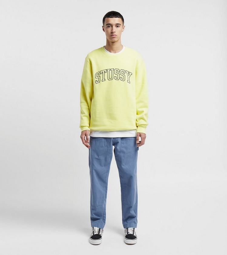 Stussy Outline Applique Crewneck Sweatshirt