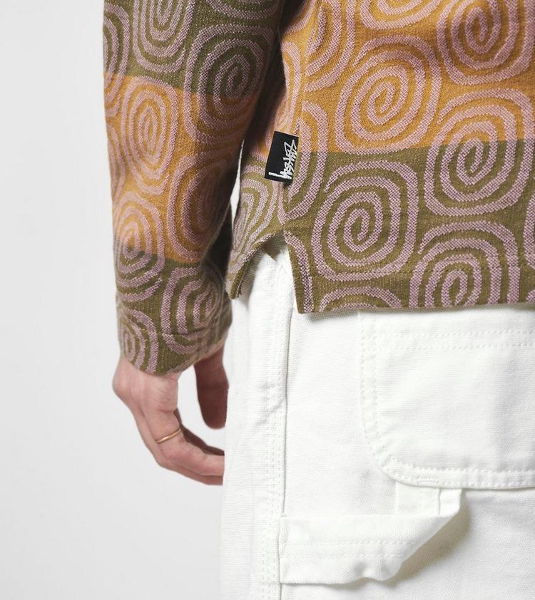 Stussy Swirl Stripe Polo Shirt