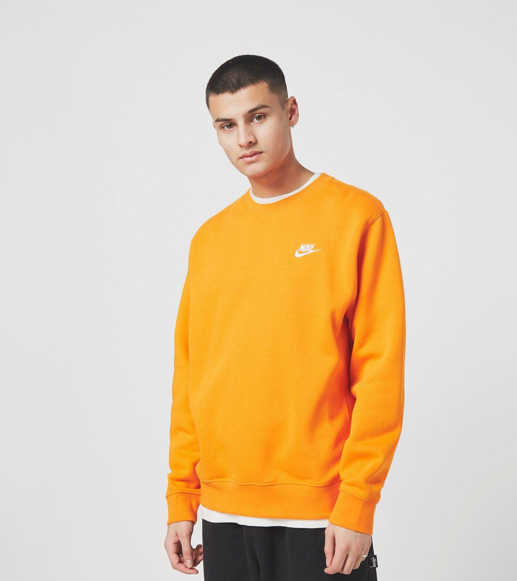 nike hoodie oranje