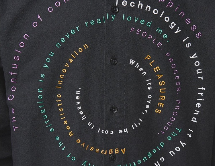 PLEASURES Reality Embroidered Shirt