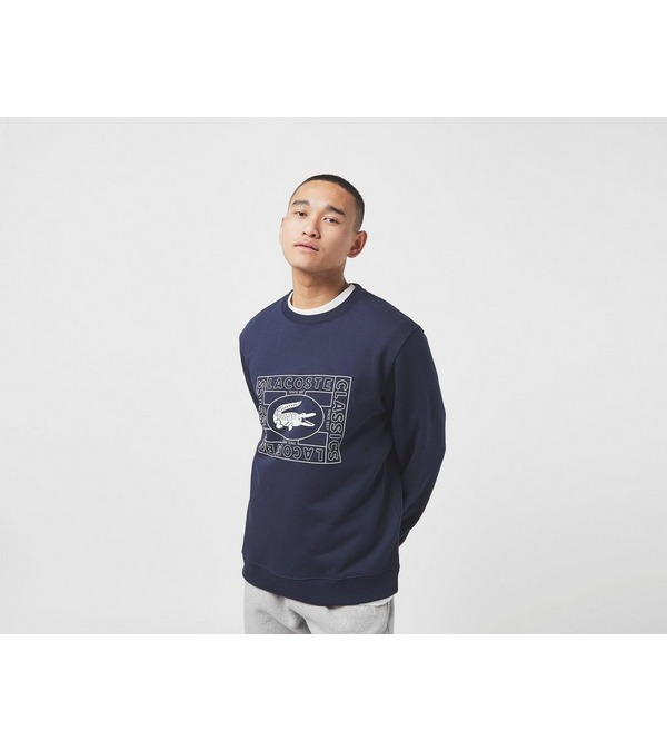 Lacoste Outline Crew Sweatshirt