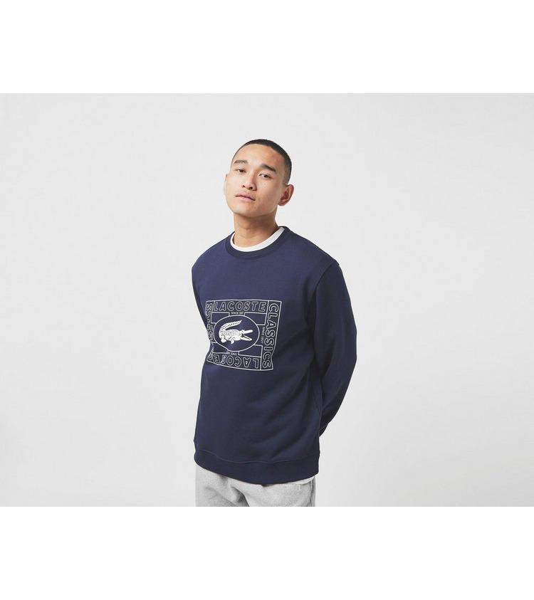 Lacoste Outline Crew Sweatshirt