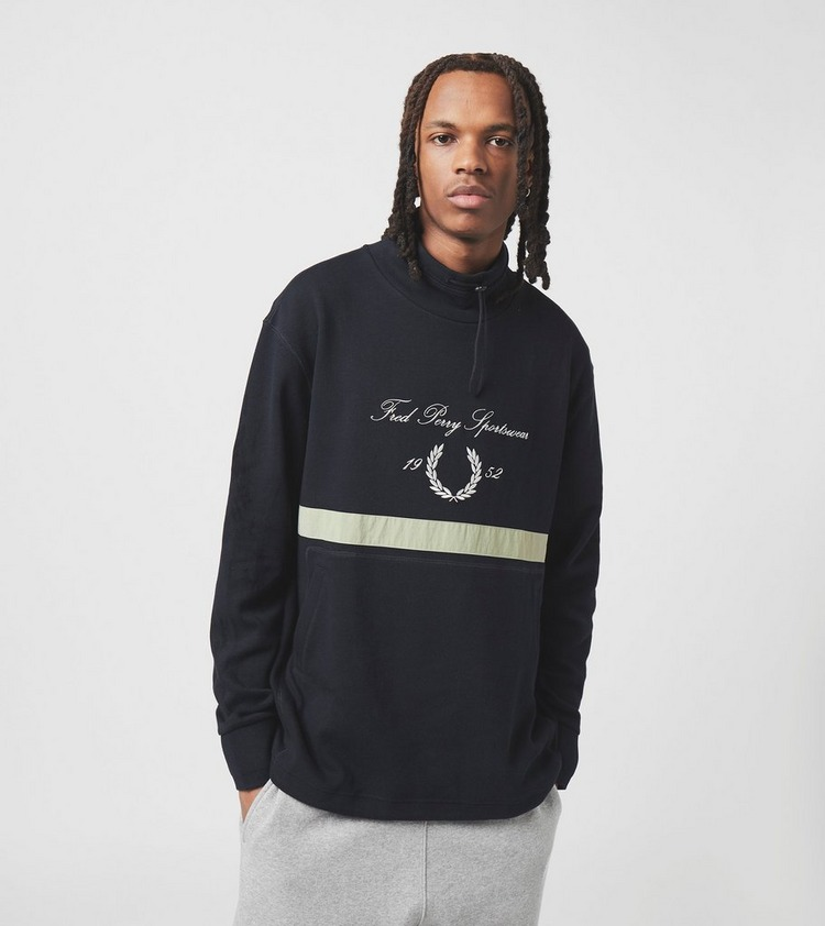 Fred Perry Embroidered Funnel Sweatshirt