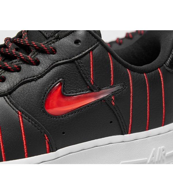 Nike Women's Air Force 1 Jewel QS Noir et Rouge 【CU6359 001