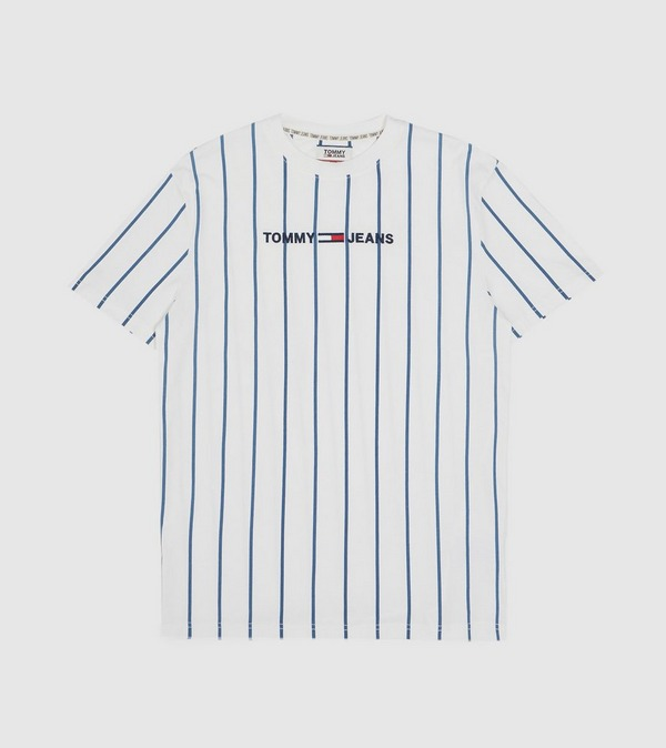 Tommy Jeans Vertical Stripe Logo T-Shirt