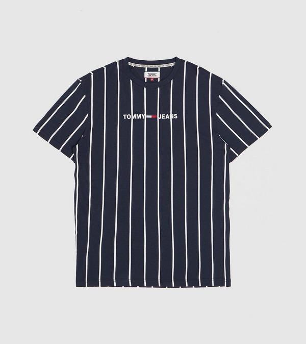 Tommy Jeans Vertical Stripe Logo T-Shirt