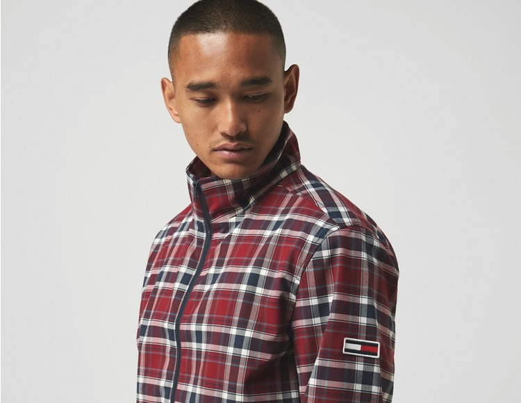 Tommy Jeans Plaid Track Jacket