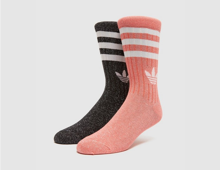 adidas Originals Full-Glitter Mid-Cut Socks 2 Pack