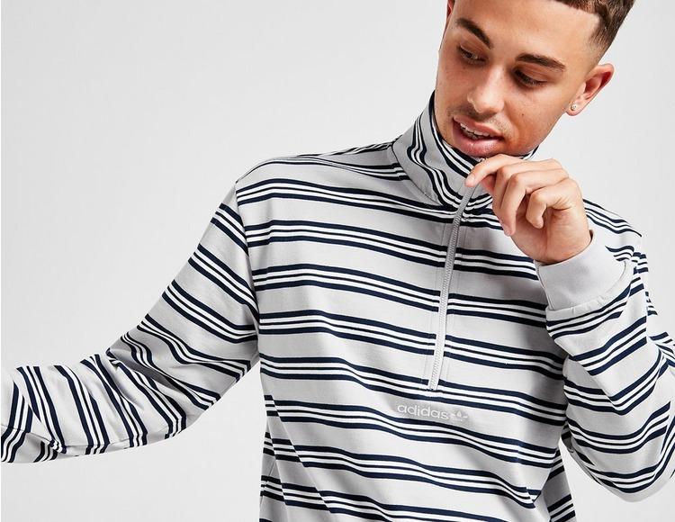 adidas Originals St. Petersburg Stripe Half Zip Sweatshirt