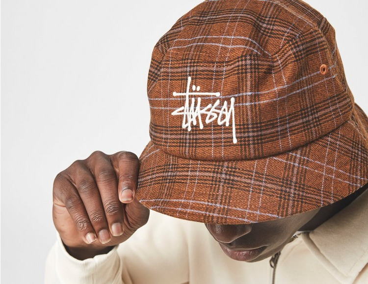 Stussy Big Logo Plaid Bucket Hat