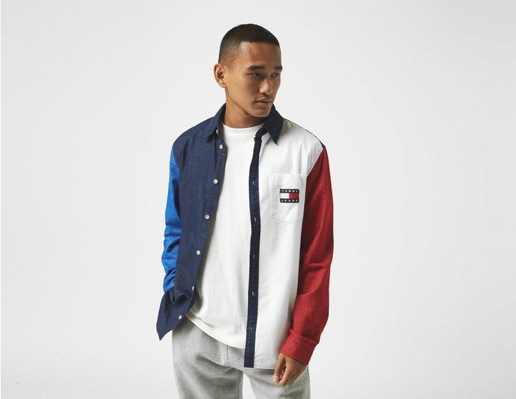Tommy Jeans Colour-block Pure Cotton Shirt
