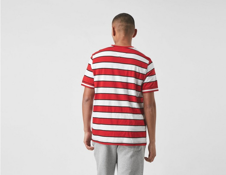 Tommy Jeans Logo Embroidery Mixed Stripe T-Shirt