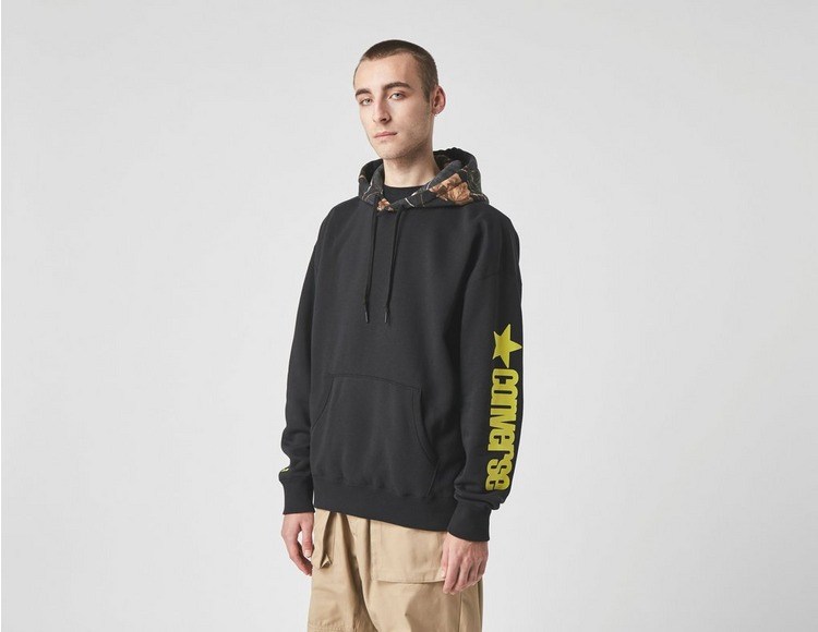 Converse Contrast Printed Pullover Hoodie