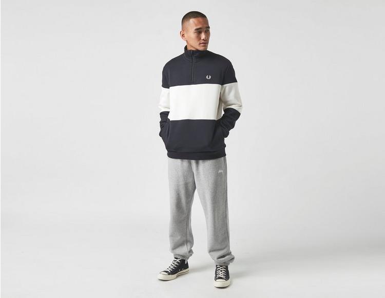 Fred Perry Colourblock Half Zip Sweatshirt