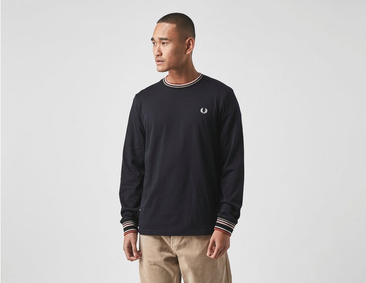 Fred Perry Long Sleeve Stripe Trim T-Shirt