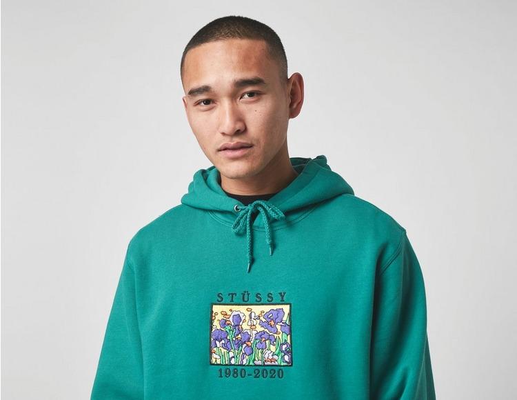 Stussy Irises Embroidered Hoodie