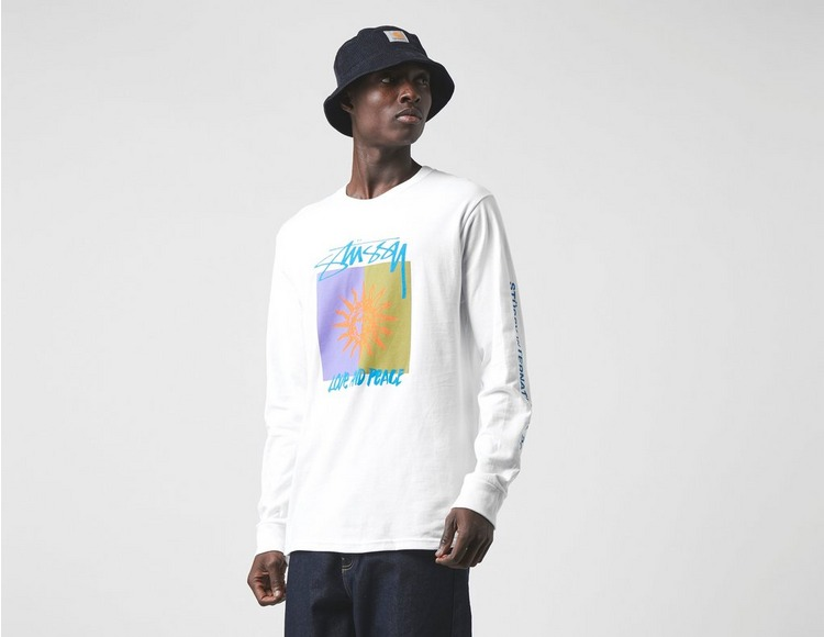 Stussy Long Sleeve Love And Peace T-Shirt