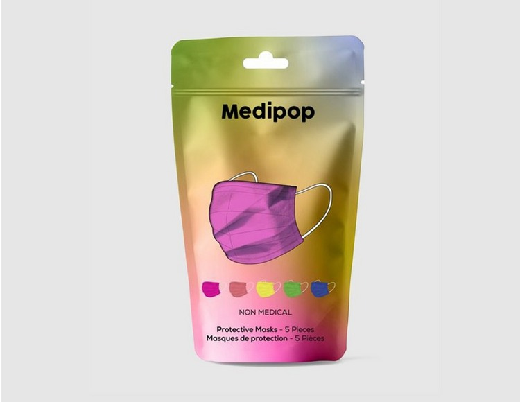 Medipop 5 Pack Disposable D Face Coverings