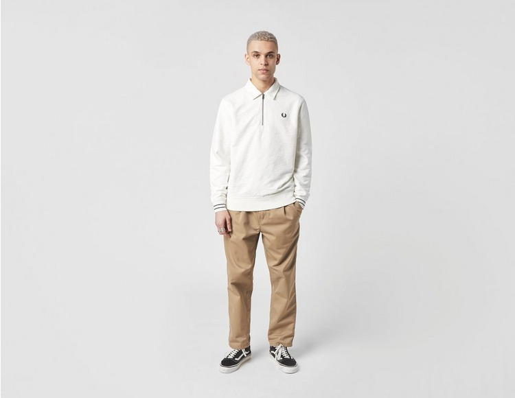 Fred Perry Zip Neck Collar Sweatshirt