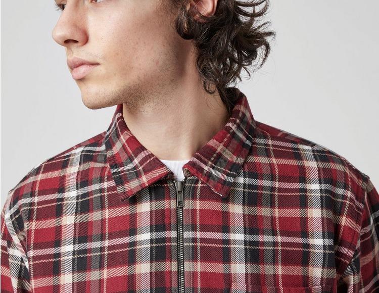 Stussy Zip Up Plaid Long Sleeve Shirt