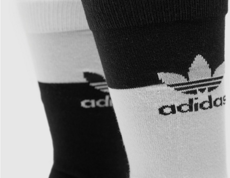 adidas Originals 2 Pack Colourblock Thin Crew Socks