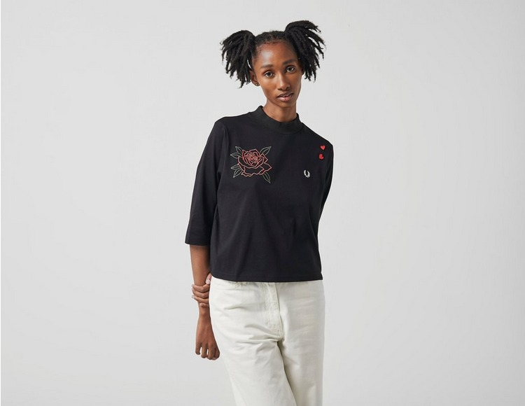 Fred Perry Embroidered High Neck T-Shirt