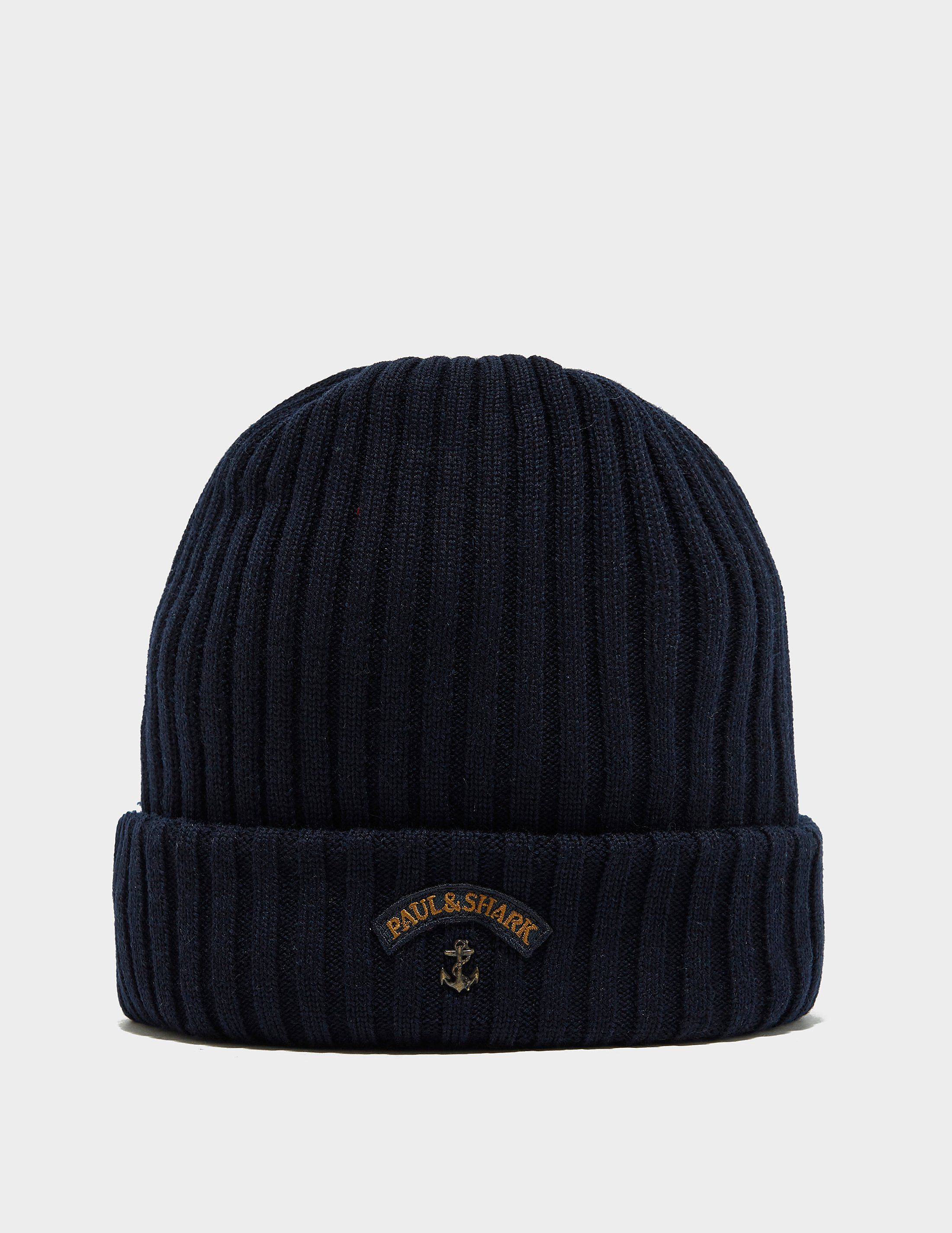 e1760c635081e Paul and Shark Ribbed Knitted Logo Beanie