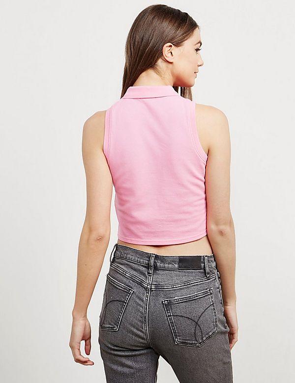 Calvin Klein Jeans Ledino Cropped Sleeveless Polo Shirt