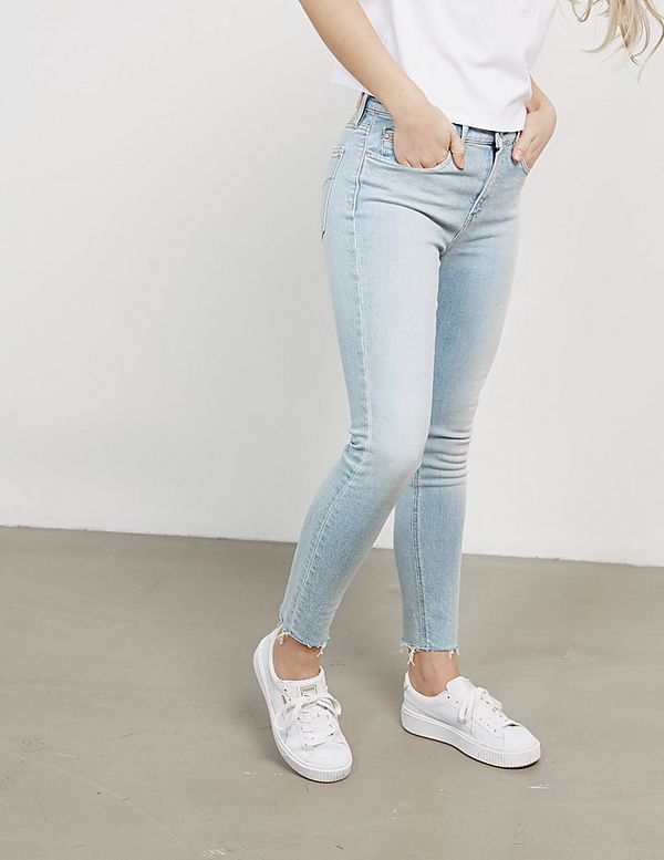 219defb80d140 Calvin Klein Jeans High Rise Ankle Distressed Skinny Jeans | Tessuti