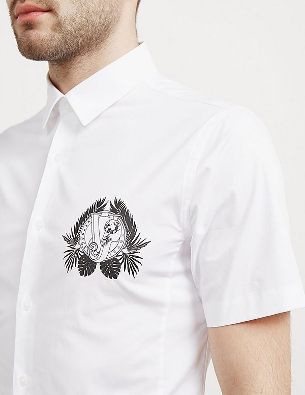 Versace Jeans Couture Leaf Logo Short Sleeve Shirt